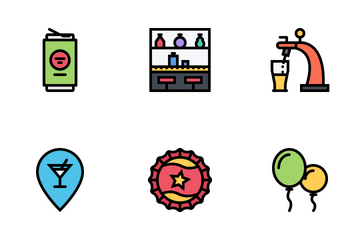 Party Colored Icon Pack