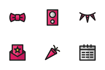 Party (Filled Line) Icon Pack
