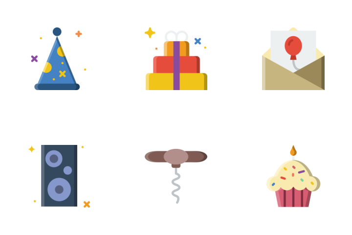 Party - Flat Icon Pack