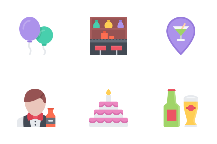 Party Flat Icon Pack