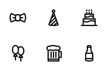 Party (Line) Icon Pack