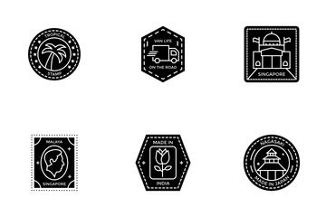 Passport Stamp Icon Pack