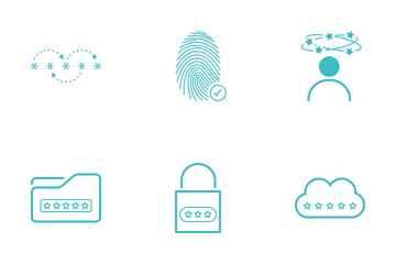 Password Minimalistic Cyan Icon Pack