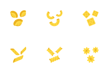 Pasta Noodles Icon Pack