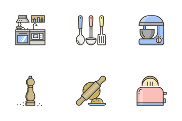 Pastel Kitchen Icon Pack