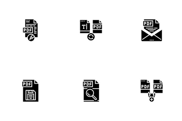 Pdf Electronic File Icon Pack