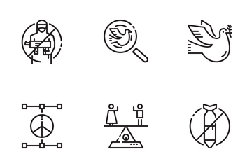 Peace And Human Rights Icon Pack
