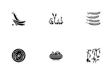 Peas Beans Vegetable Icon Pack