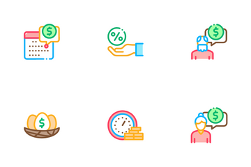 Pension Retirement Icon Pack