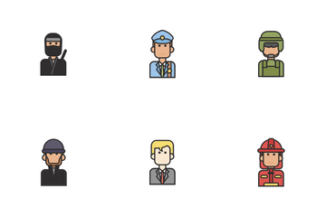 People And Their Job Icon Pack