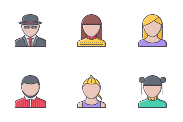 People Filled Outline Icon Pack