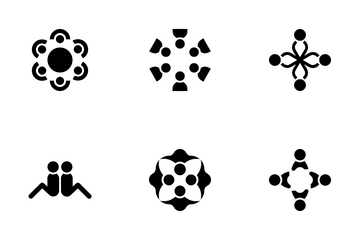 People Group And Community Symbols Icon Pack