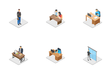 People Office Activities Icon Pack