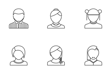 People Outline Icon Pack