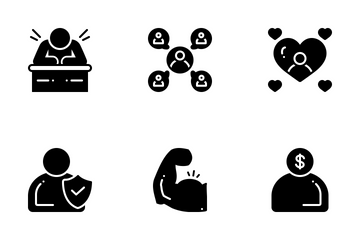 Personality Traits 2 Solid Icon Pack