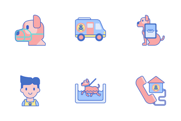 Pet Grooming Icon Pack