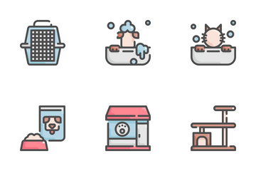 Pet Grooming Shop Icon Pack