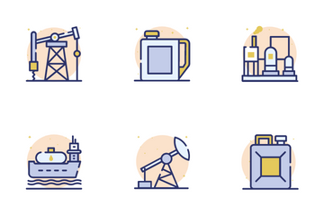 Petrol Industry Icon Pack