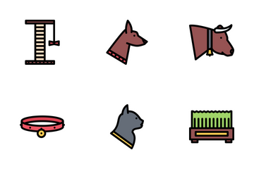 Pets Colored Icon Pack