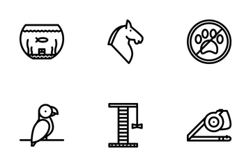 Pets Outline Icon Pack