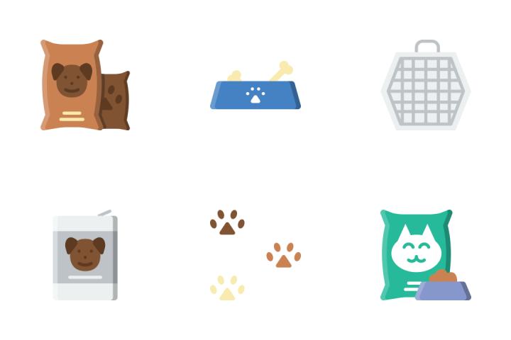 Petshop - Flat Icon Pack