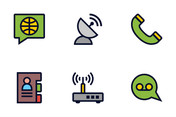 Phone And Internet Communication Icon Pack