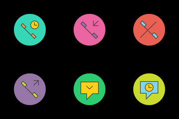 Phone Communication Icon Pack
