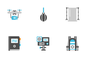 Photographer And Designer Gadget Icon Pack