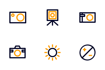 Photography Colorized Outline Icon Pack