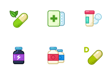 Pills & Tablets Icon Pack