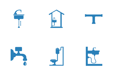 Pipes And Water Supply Icon Pack
