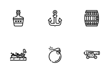Pirate Sea Robber Icon Pack