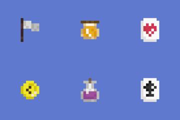 Pixel Game Set Icon Pack