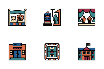 Places And Landmark Icon Pack