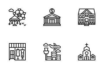 Places & Landmarks Icon Pack