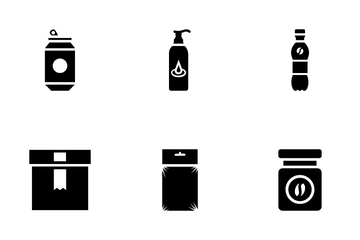 Plastic Packaging Icon Pack