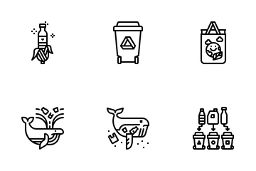 Plastic Pollution Icon Pack