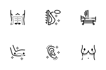 Plastic Surgery Clinic Icon Pack