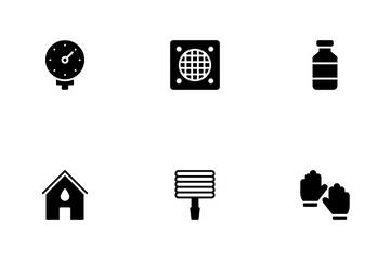 Plumbing Service And Bathroom Icon Pack