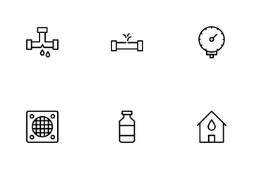 Plumbing Services And Bathroom Icon Pack
