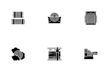 Plywood Production Icon Pack