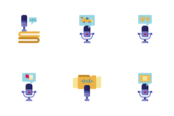Podcast And Audio Chat Icon Pack