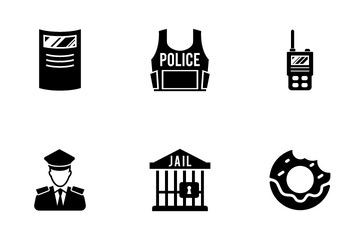 Police And Law Enforcement Icon Pack