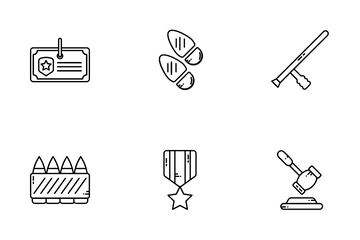Police & Law Enforcement Icon Pack