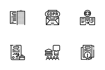 Policies Data Process Icon Pack