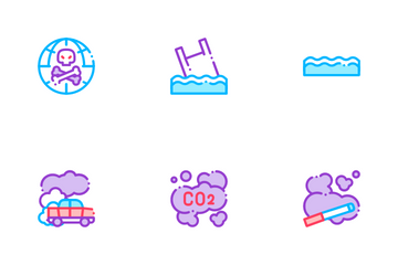 Pollution Of Nature Icon Pack