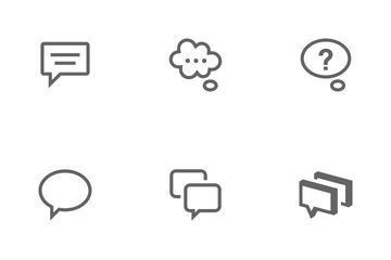 Pop-Up Bubble And Speech Icon Pack