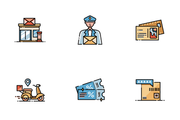 Postal Service Line Color - To Your Front Door Icon Pack