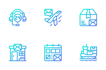 Postal Services Icon Pack