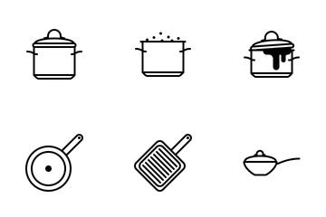 Pots & Pans (glyph) Icon Pack